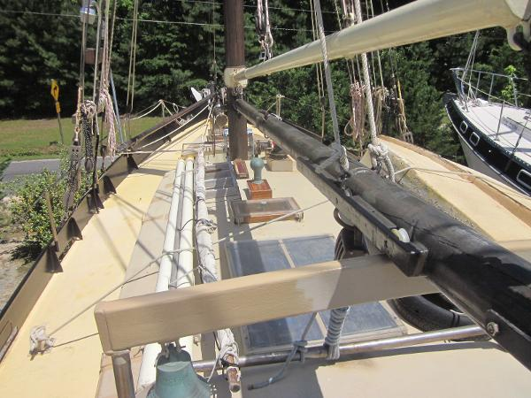 Steel Gaff-rigged Ketch - Foredeck