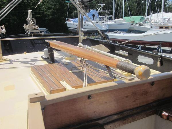 Steel Gaff-rigged Ketch - Tiller
