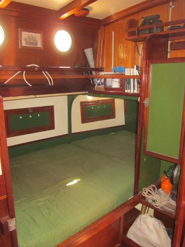 Steel Gaff-rigged Ketch - Double berth, starboard of companionway