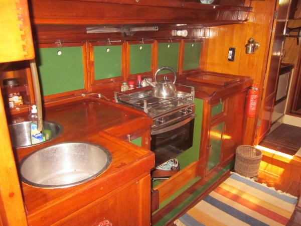 Steel Gaff-rigged Ketch - Galley