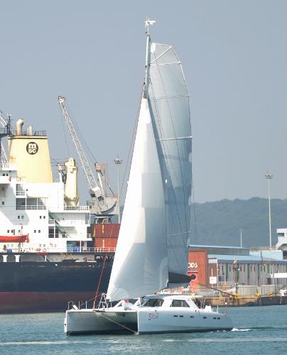 GreenCat 605 test sail