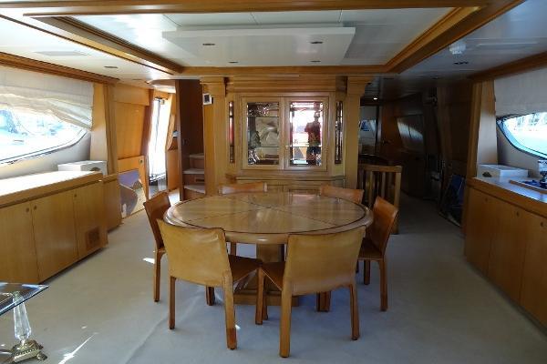 Posillipo Technema 95 Main Deck Saloon Dining / Lounge