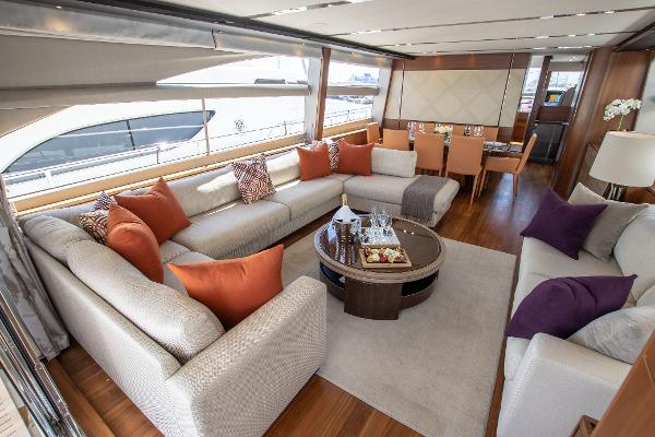 Princess 82 Motor Yacht - Deck Saloon