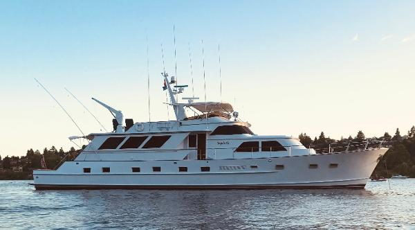 Broward Pilothouse Motoryacht Starboard Profile