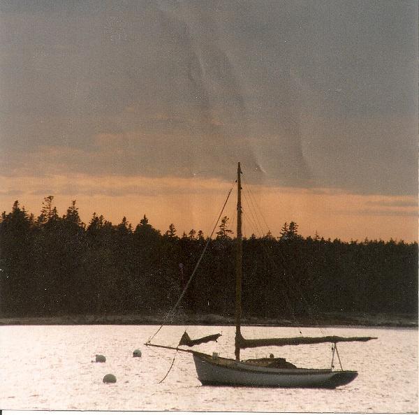 Ralph Stanley Sloop On the mooring
