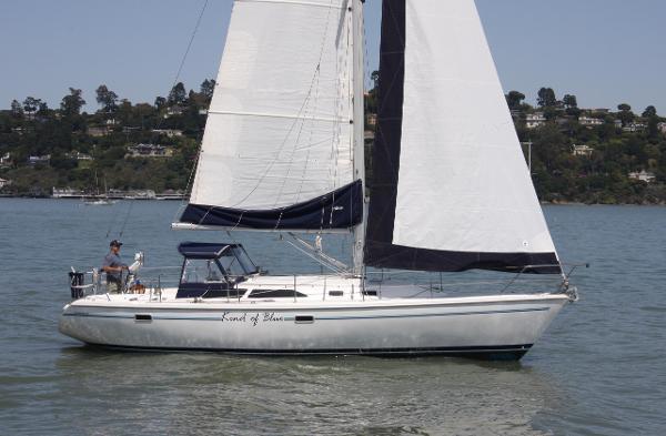 Catalina  Mk II sloop sistership shown under sail