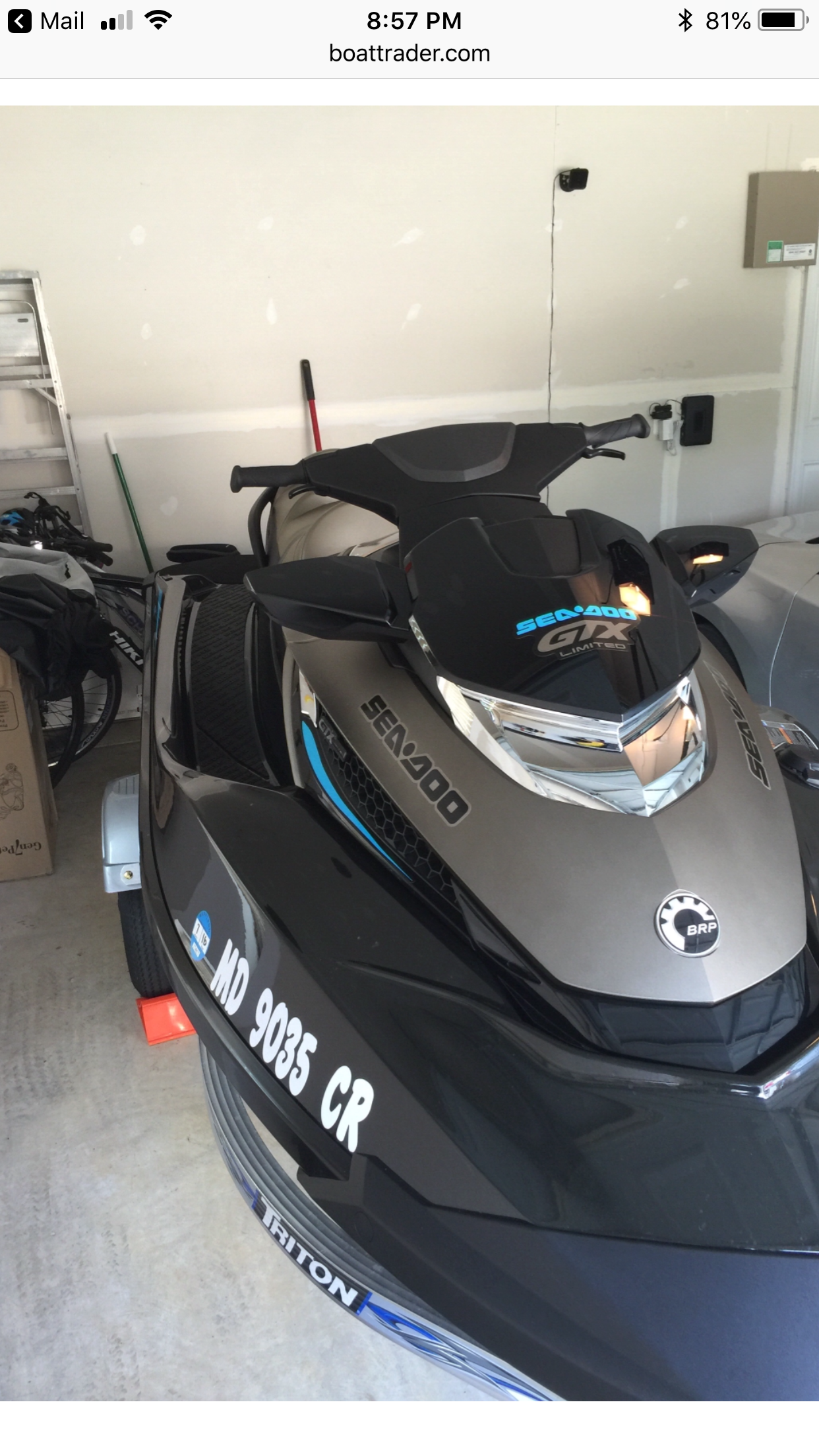 Sea-Doo 215 gtx limited super charge