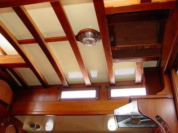 Ceiling in Galley and Dinette