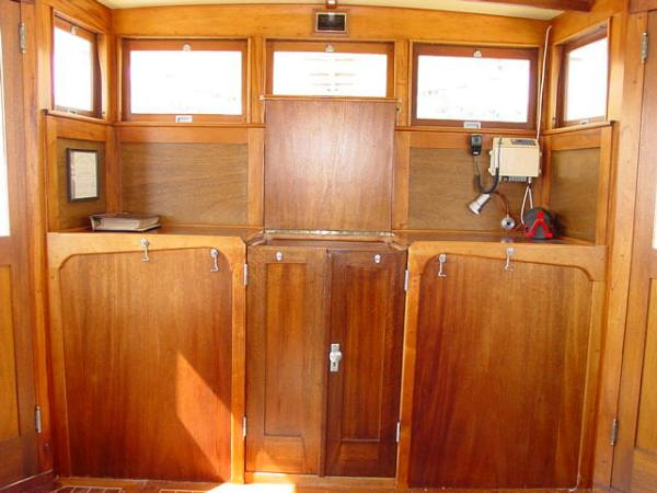 Wheelhouse Facing Aft