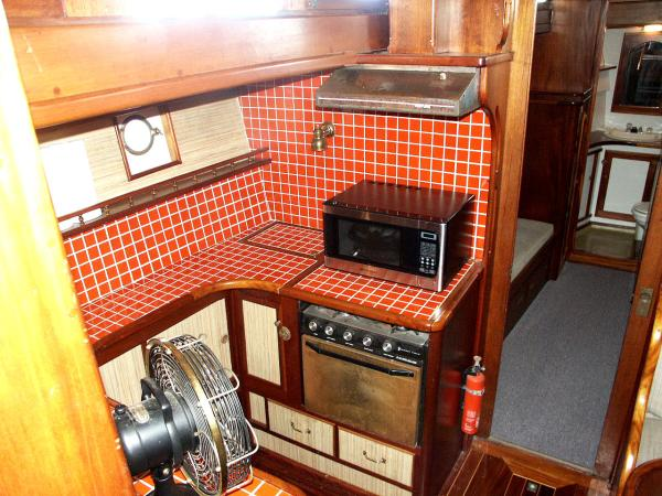 Looking Down into Galley