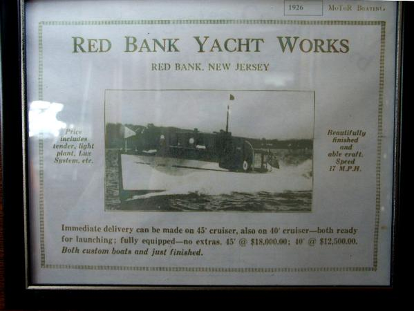Original Ad for Red Bank Yacht Works