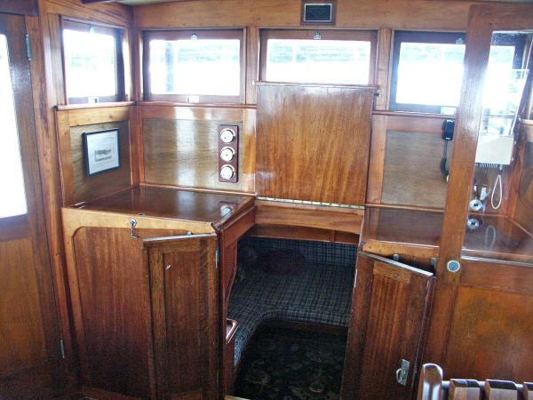 Wheelhouse Facing Aft Doors Open