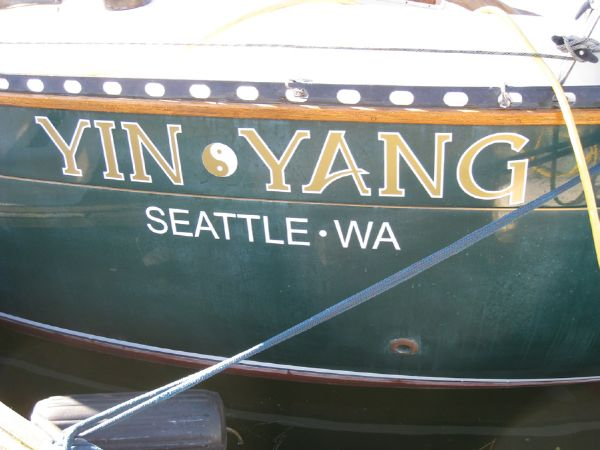 Boat Name on Quarters