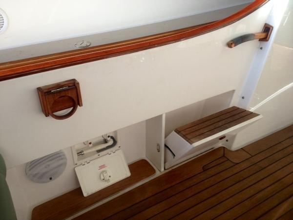 Boarding step & cockpit shower