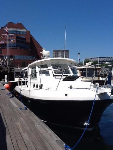Albin 28 Tournament Express Flush Deck At the dock