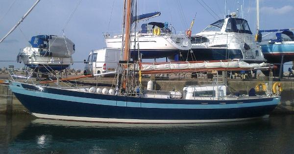 Laurent Giles 54' Steel Gaff Rigged Cutter
