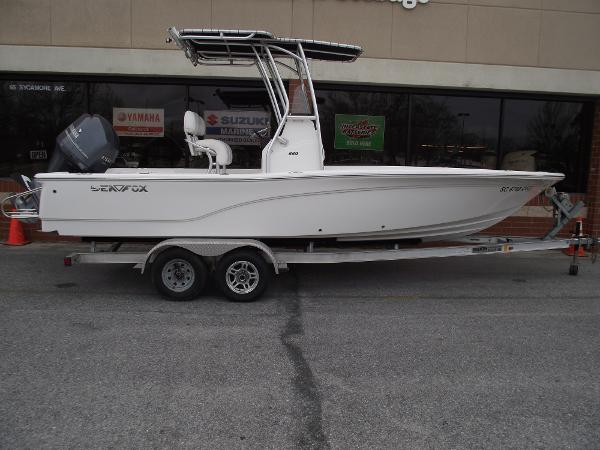 Sea Fox 220 Viper STARBOARD ON TRAILER