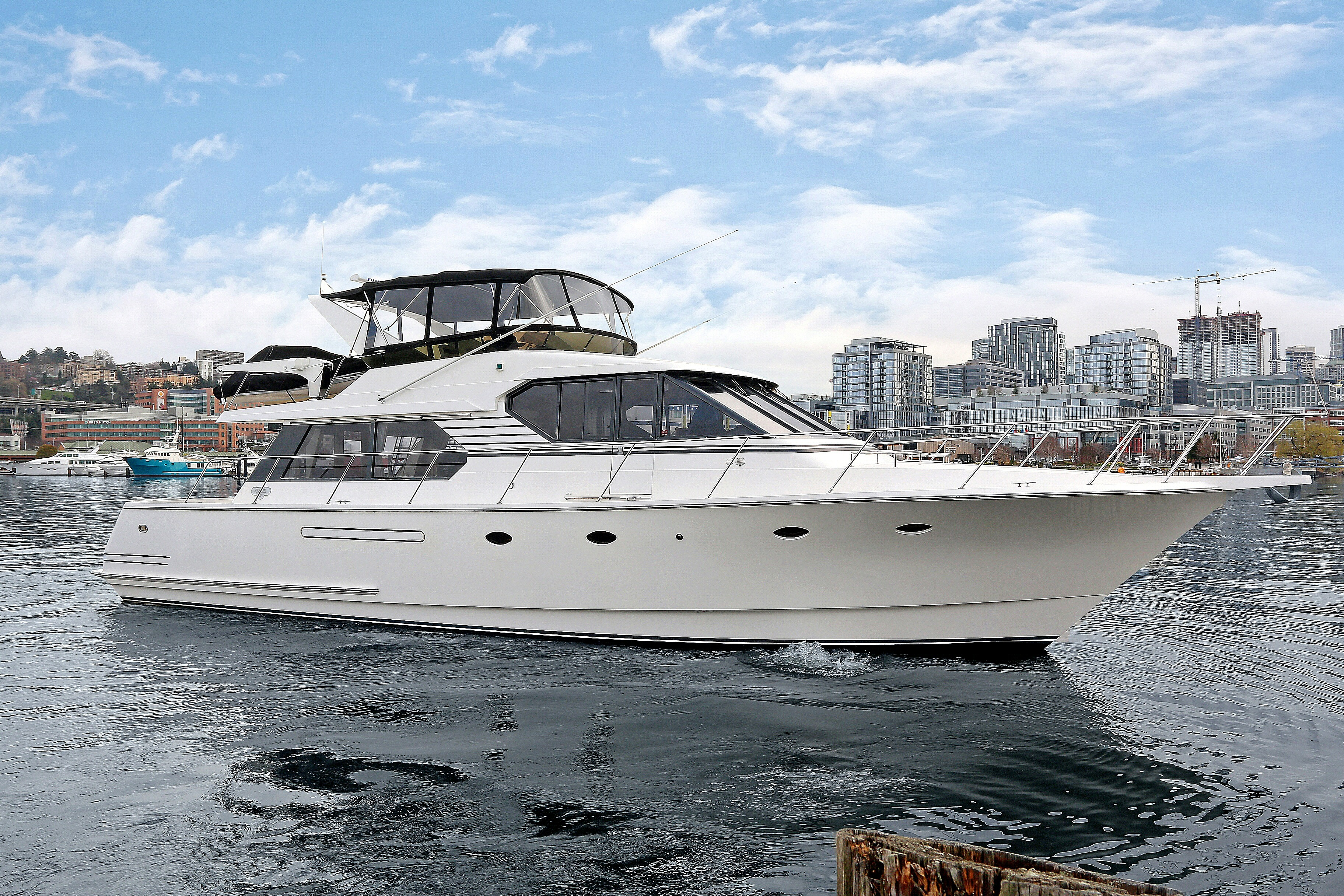 West Bay 58 Pilothouse Motor Yacht Dock Holiday