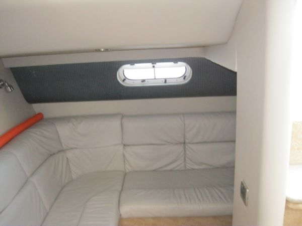 Rear couch and sleeping quarters