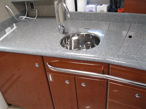 sink and kitchen area