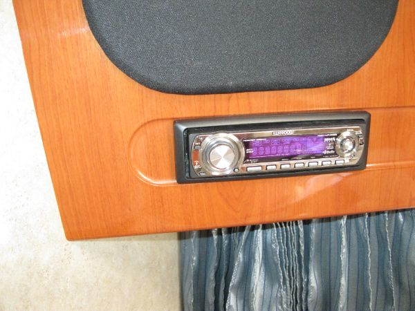 cd player am/fm speakers throughout boat