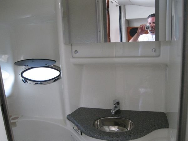 sink and medicine cabinet w/ mirror
