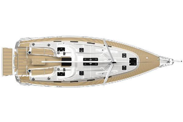Bavaria 40 - Deck Layout