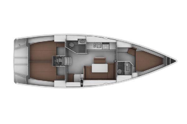 Bavaria 40 Cruiser SY Bavaria 40 layout plan