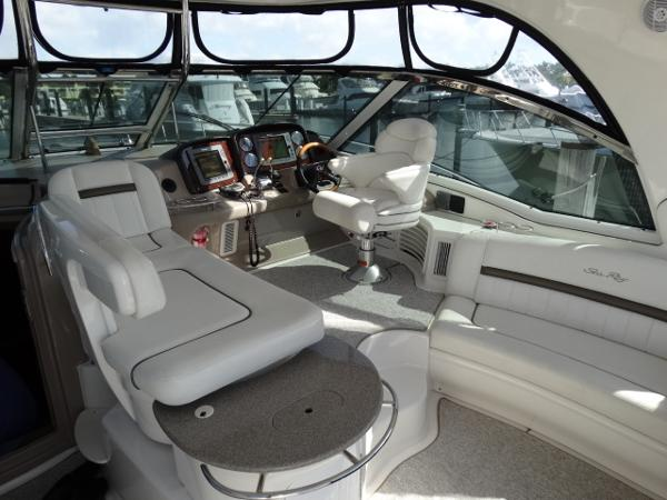 Helm deck in entertainment setting