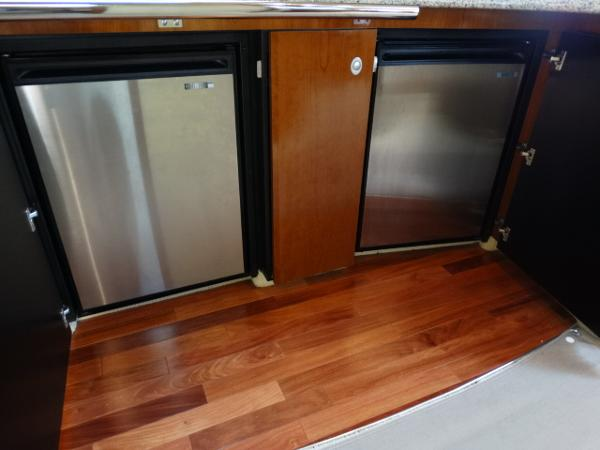 Stainless steel refrigerator and freezer