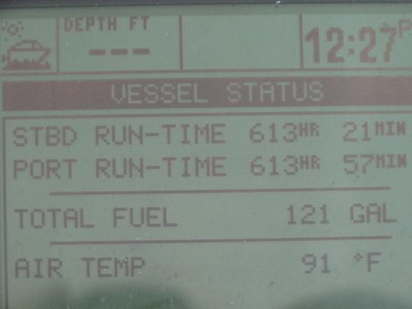 Main engine run time