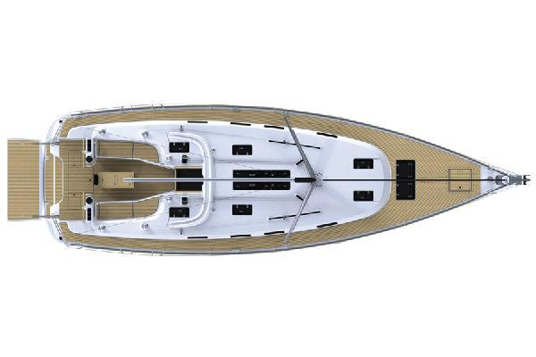 Bavaria Cruiser 45 Upper Deck Layout Plan