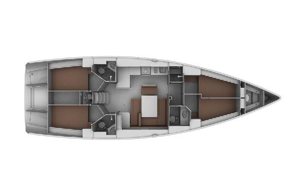 Bavaria Cruiser 45 Lower Deck Layout Plan