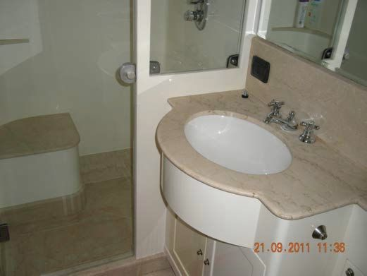 Guest Stateroom En-Suite Stall Shower