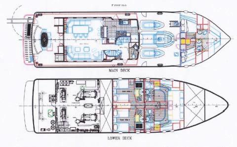 Layout Main Deck & Lower Deck