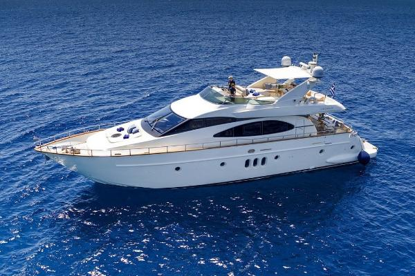 Azimut 75 Actual boat at sea