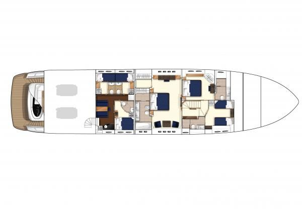 Three Stateroom Layout