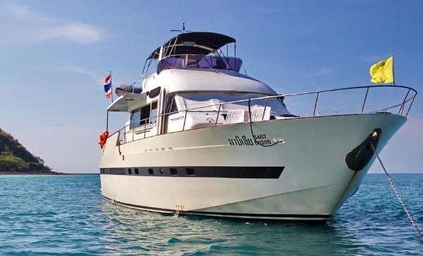 Tarquin Motor Yachts 66 Sister ship at anchor