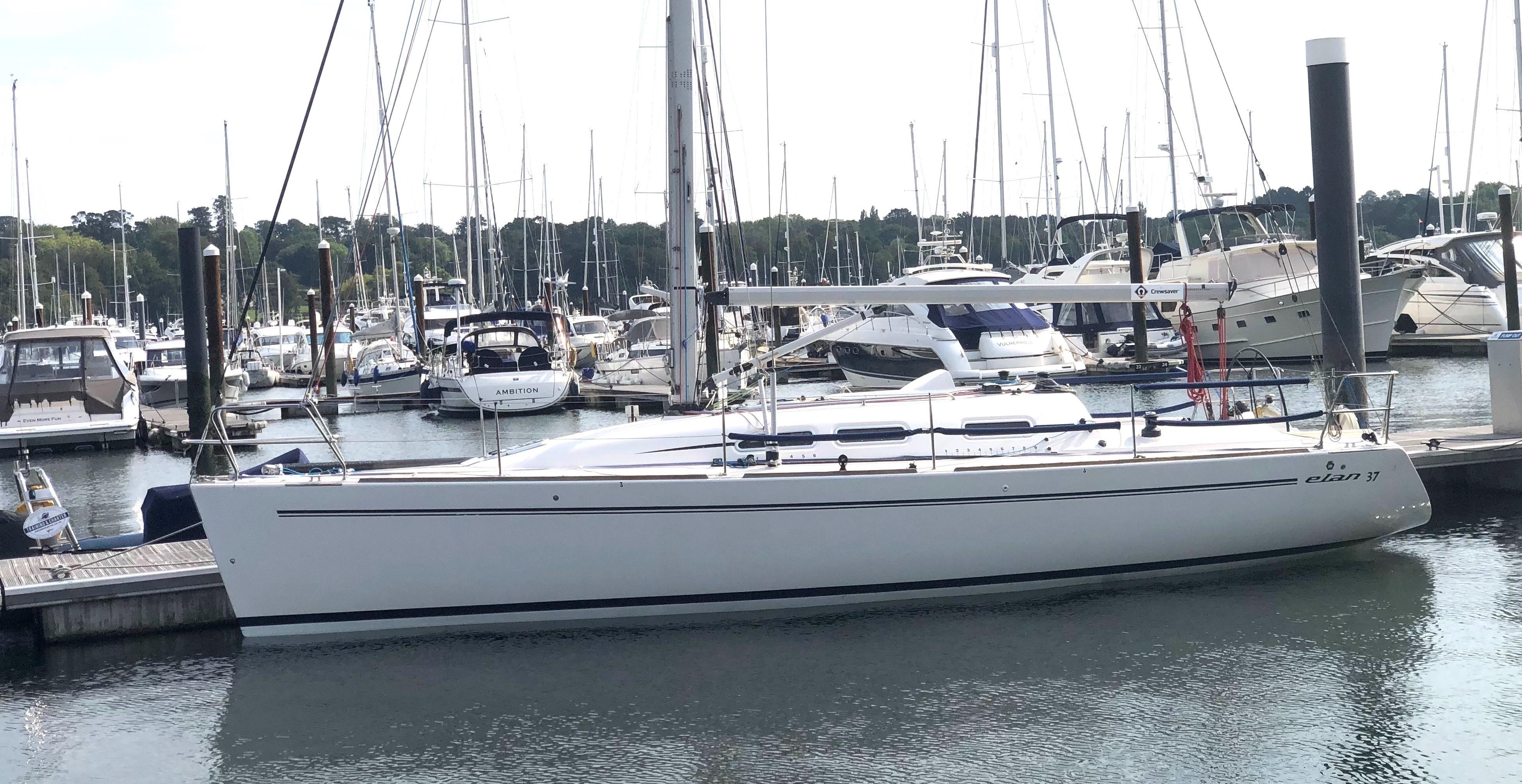 Elan 37 On her berth