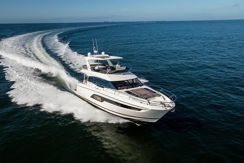Prestige 630 Flybridge Hardtop Wow Shot!