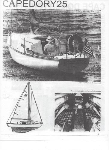 Cape Dory Sloop....OWN THIS CLASSIC CD.....FIXER UPPER..... MANUFACTURER PROVIDED IMAGE