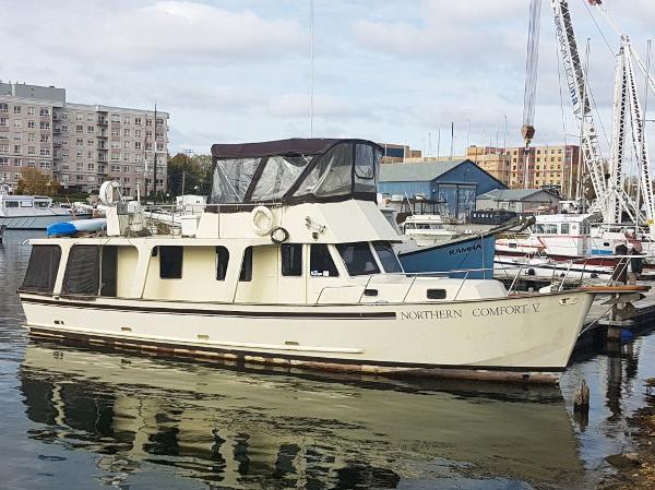 Custom Wray Brown 46 Europa Trawler Starboard Profile