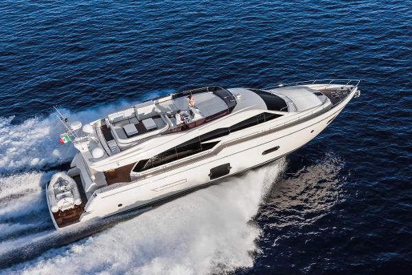 Ferretti Yachts 750 Manufacturer Provided Image: Ferretti 750 Aerial View