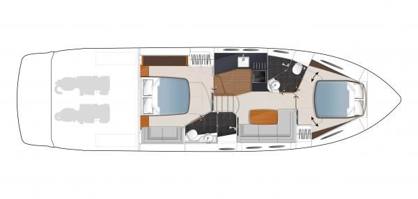 Lower Deck Accommodation Layout