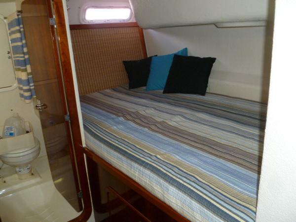 SB Aft Double Berth with Cane Headboard