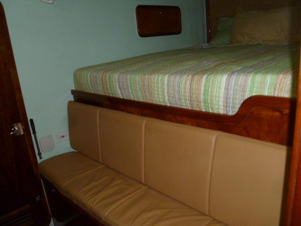 SB Forward Cabin Couch and Dressing Seat