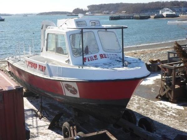 Willard 32' x 12' Willard Fiberglass OPontoon Boat