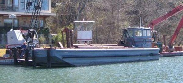 50' x 14' x 2' Ex Navy Twin Screw Cargo Tug /Truckable