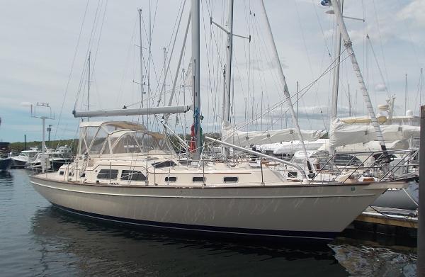 Island Packet 465 IP465 Intrepid II at the dock