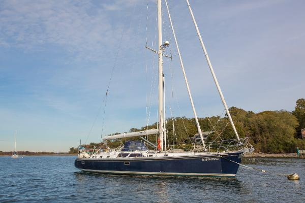 Hylas 54 Westwinds on mooring